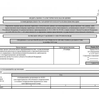 Форма 57-Т. Сведения о заработной плате работников по профессиям и должностям