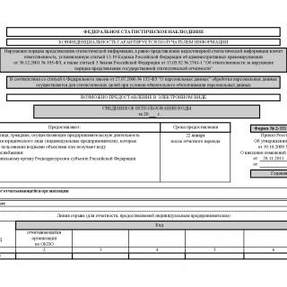 Форма 2-ТП (водхоз). Сведения об использовании воды