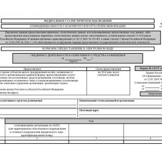 Форма 1-КСР (краткая). Сведения о деятельности коллективного средства размещения