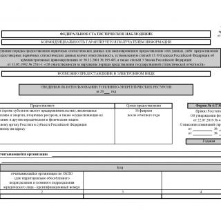 Форма 4-ТЭР. Сведения об использовании топливно-энергетических ресурсов от 22.07.2019 N 419