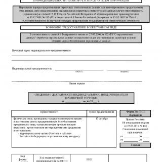 Форма 1-ИП (торговля)