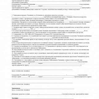 форма договора займа 2020 оформить кредитный договор физическому лицу