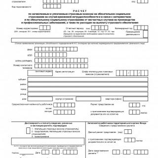 Форма 4 - ФСС. Расчетная ведомость по средствам ФСС за 2016 год