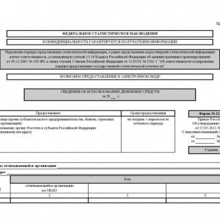 Форма 12-Ф. Сведения об использовании денежных средств