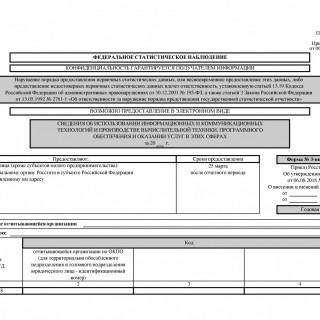 Форма 3-информ. Сведения об использовании информационных и коммуникационных технологий