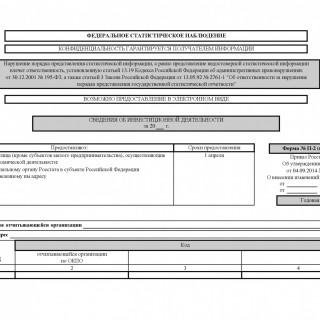 Форма П-2 (инвест). Сведения об инвестиционной деятельности от 04.09.2014 N 548