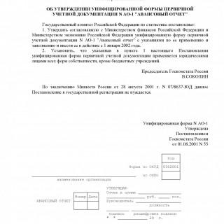 Постановление Госкомстата РФ от 01.08.2001 N 55