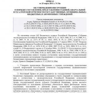 Приказ Минфина России от 25.03.2011 N 33н (ред 16.10.2019)