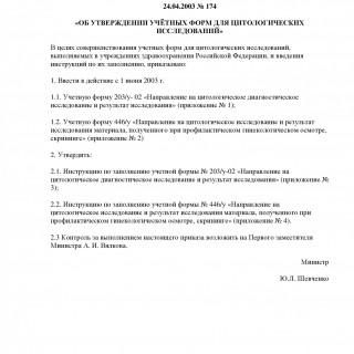 Приказ Минздрава РФ от 24.04.2003 N 174